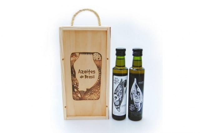 O Azeite da Rua em duas versões, e caixa especial que pode ser comprada também
