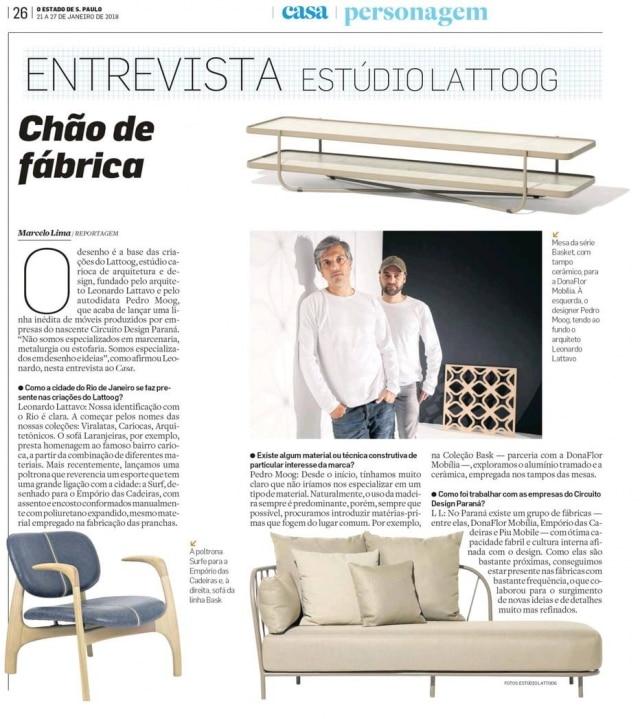 Pedro Moog e Leonardo Lattavo lançaram linha de móveis prouzidaem parceria com empresas do Circuito do Desgin Paraná, mas com inspiração carioca