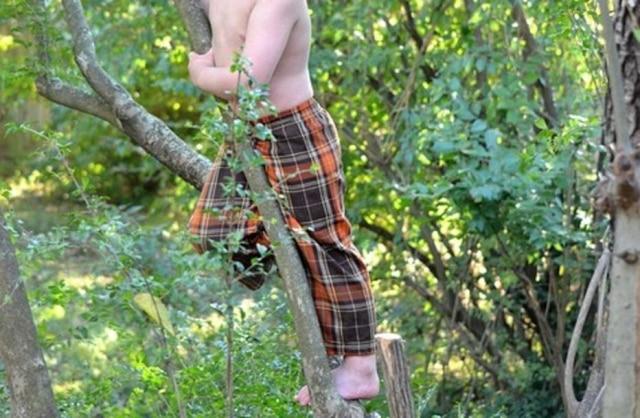 Garoto subindo em árvore (imagem ilustrativa)