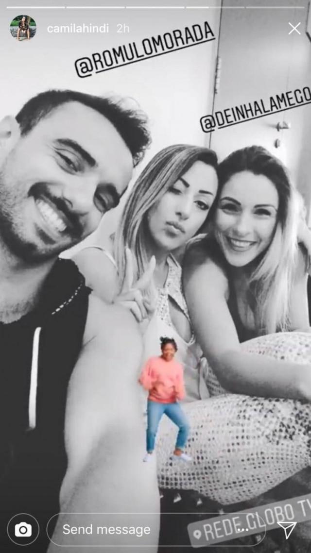 Bailarina do 'Domingão do Faustão', Camila Hindi posta foto com coreógrafo de Rouge,Rômulo Morada
