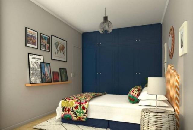 O novo quarto de Jesse tem referências a viagens, fotografia e literatura, alguma de suas paixões. Foto: Estúdio Leonardo Junqueira