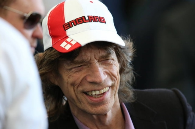 Mick Jagger durante a final da Copa do Mundo de 2014, no Maracanã.