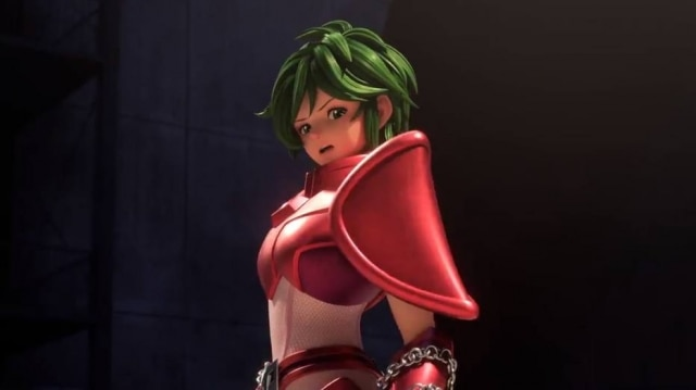 Personagem Shun em nova série'Cavaleirosdo Zodíaco' na Netflix.