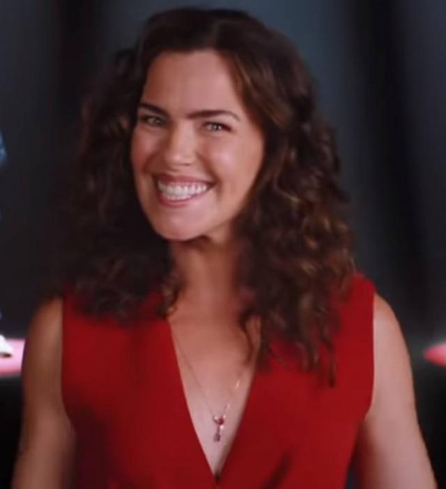 Ana Paula Arósio em propaganda do banco Santander, veiculada em agosto de 2020