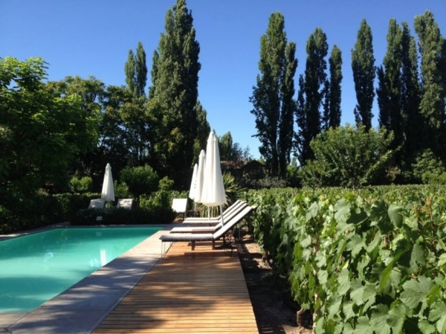 Hotel butique da vinícola Finca, a vinte minutos de Mendoza