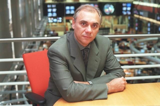Marcelo Rezende em 1999, durante sua passagem pela Globo