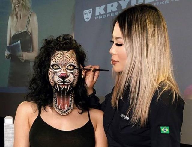 A convite da Kryolan, Mimi Choi veio ao Brasil ensinar suas técnicas a maquiadores
