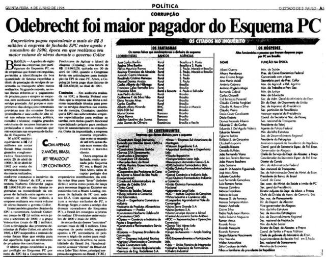 >> Estadão - 6/6/1996