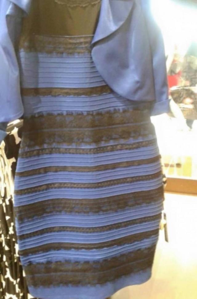 Branco e dourado ou preto e azul?