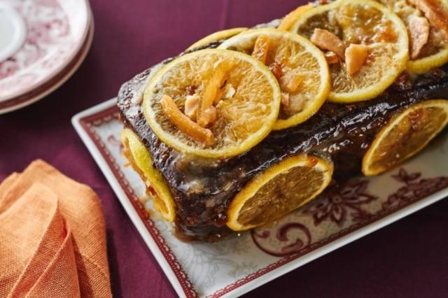 Receita de bolo natalino de laranja