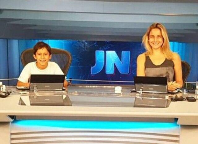 Fernanda Gentil e seu filho Lucas