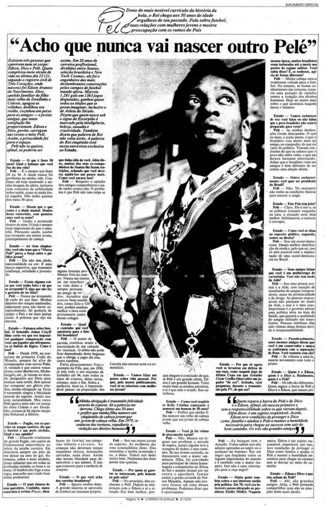Entrevista de Peléem 27/10/1990
