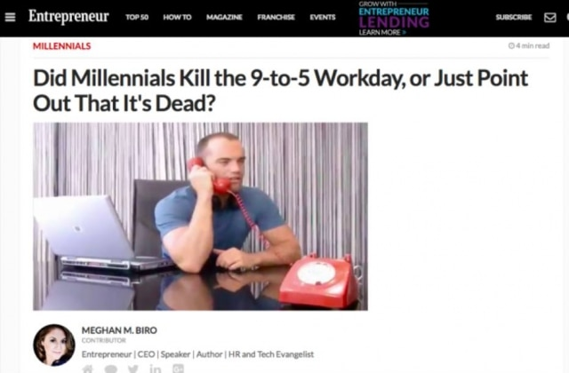 Os Millennials acabaram com as 9 horas de trabalho em cinco dias por semana, ou apenas perceberam que isso está não faz mais sentido?