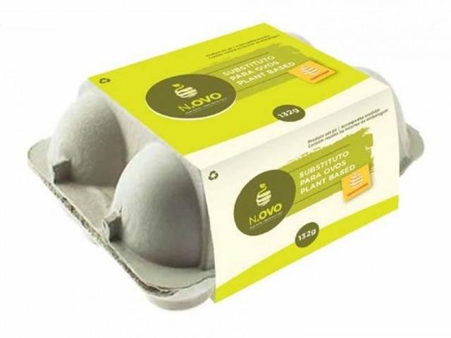 Uma caixa com 132gramas do 'ovo' vegano equivale a 12 ovos de galinha.