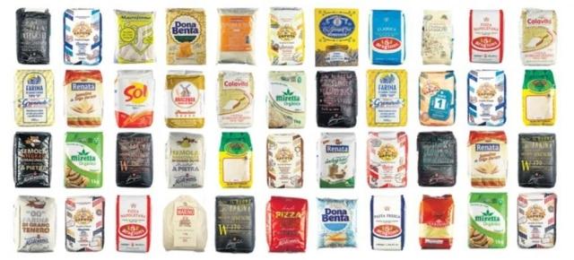 Marcas nacionais e importadas de farinha de trigo encontradas em São Paulo