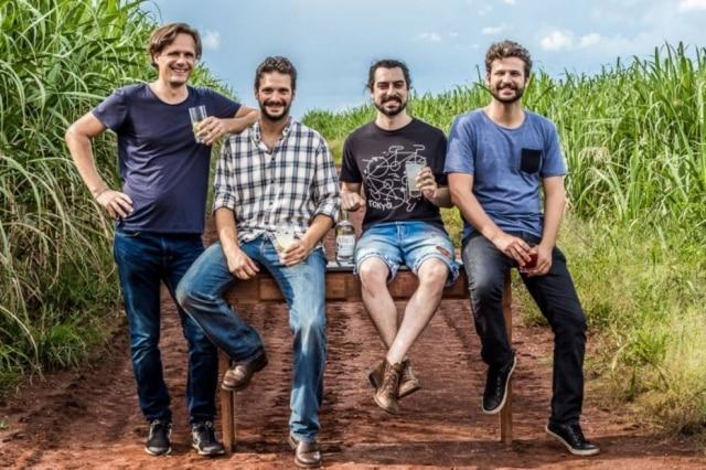 Criadores do gim Virga: Joscha Niemann, Gabriel Foltran, João Leme e Felipe Januzzi.