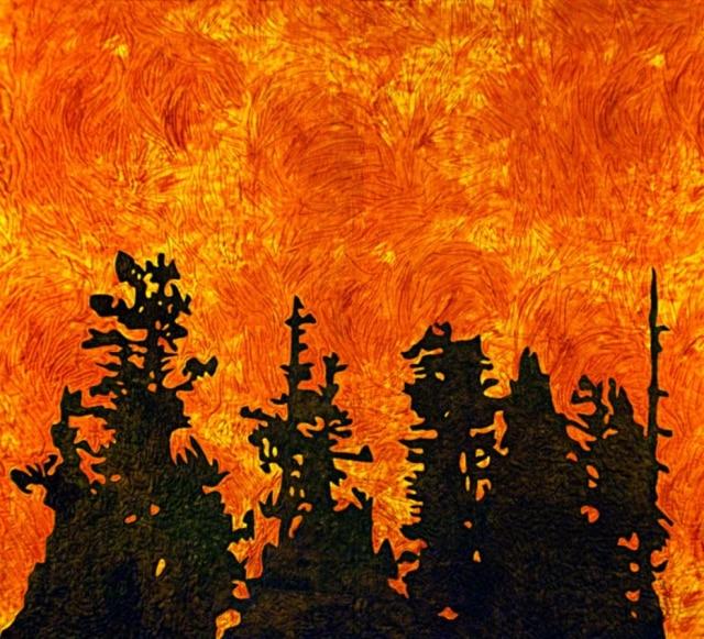 """""""Firestorm"""", de Marion Coleman, inspirado nos incêndios de 1991 em Oakland e Berkeley Hills"""