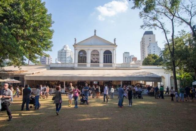 Vista do jardim do Museu da Casa Brasileira