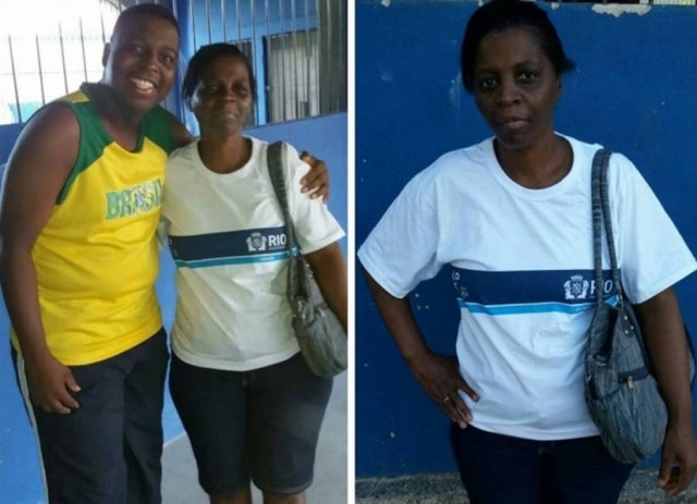 O cariocaVanderson Nascimento e sua mãe, de 52 anos, indo para a escola.
