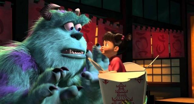 Assim como a Boo, de 'Monstros S.A.', Sidney também tinha medo de monstros.