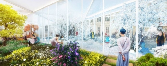 Ilustração apresenta os interiores da instalação Living Nature, uma das mais aguardadas da temporada.