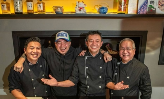 Time. Miyashita, Carlos Yamashita, Serginho Kubo e Shigueiro