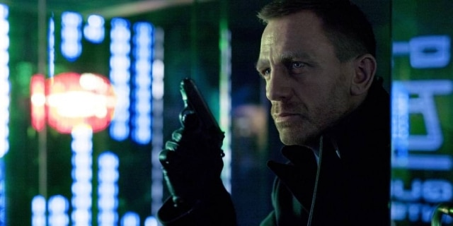 O ator Daniel Craig durante gravação dofilme '007:Skyfall', em fevereiro de 2012.