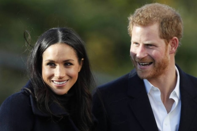 Meghan Markle e o príncipe Harry.
