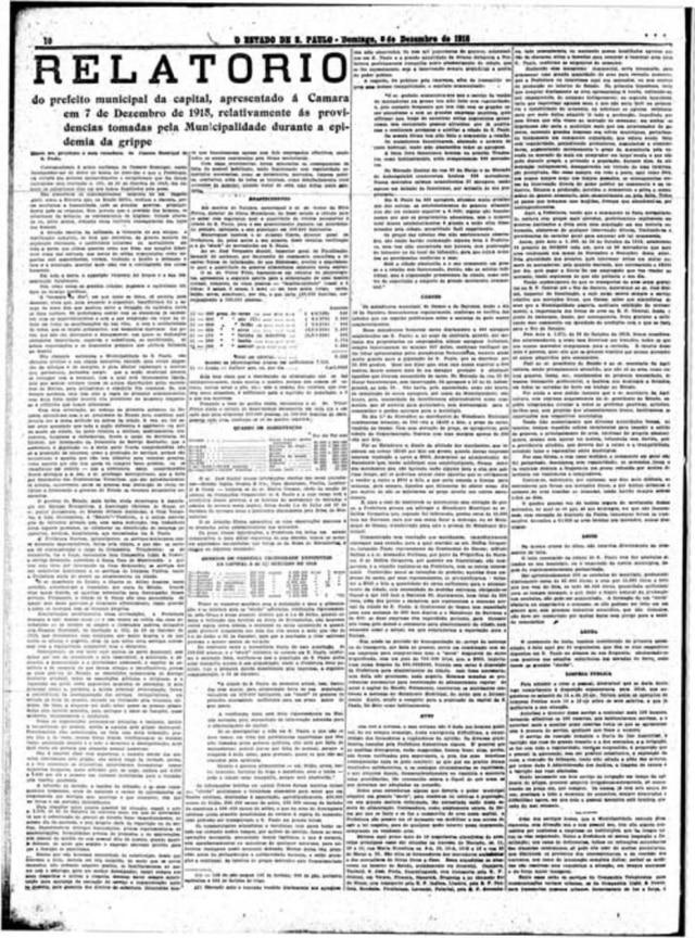 O Estado de S.Paulo 08/12/1918Clique aqui para ver a página