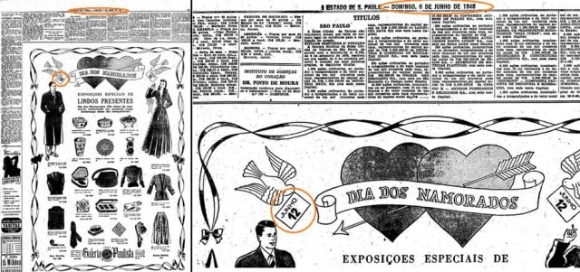 Anúncio publicado no 'Estadão' em 06/06/1948