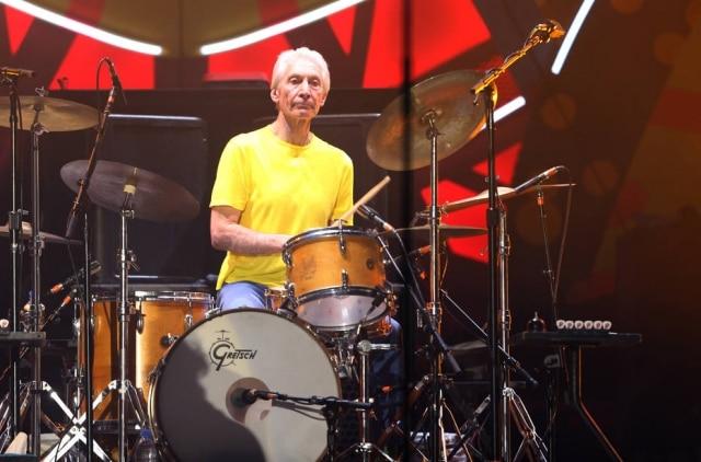 Charlie Watts em apresentação dos Stones no Morumbi em 2016.