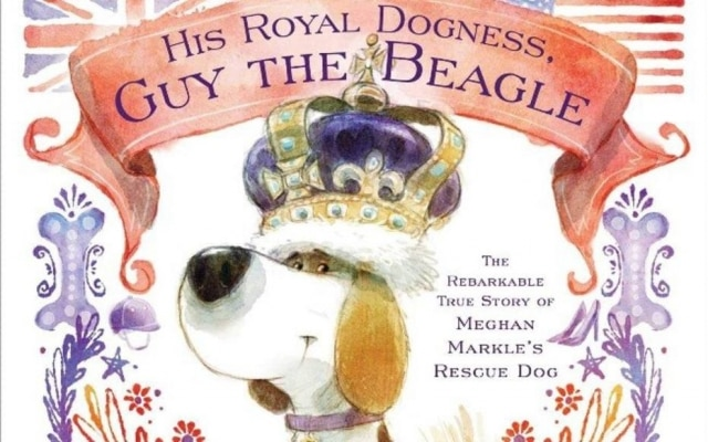 Livro 'His Royal Dogness, Guy the Beagle: The Rebarkable True Story of Meghan Markle's Rescue Dog' conta história do cachorro da duquesa de Sussex.