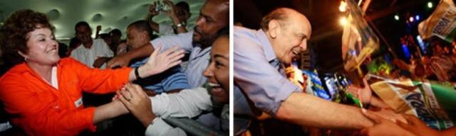 Em 2010, a eleição presidencial foi para o 2º turno. A disputa ficou entre a candidata do PT, Dilma Roussef, e o candidato do PSDB, José Serra.A candidata do PV, Marina Silva, conseguiu 20% dos votos, impedindo a vitória da petista no 1º turno. Dilma registrou 46% dos votos no 1ºturno. Serra obteve 33% dos votos na votação de 03 de outubro de 2010.
