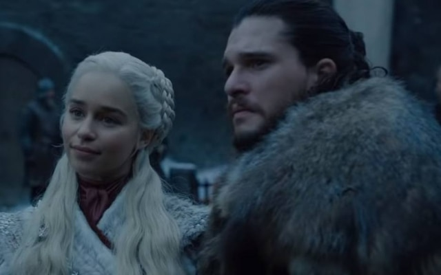Emilia Clarke e Kit Harington como Daenerys e Jon Snow em 'Game of Thrones'.