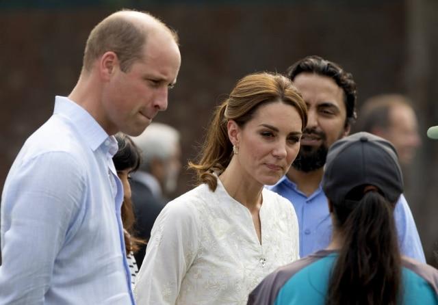 Príncipe William e Kate Middleton durante visita ao Paquistão em 2019.
