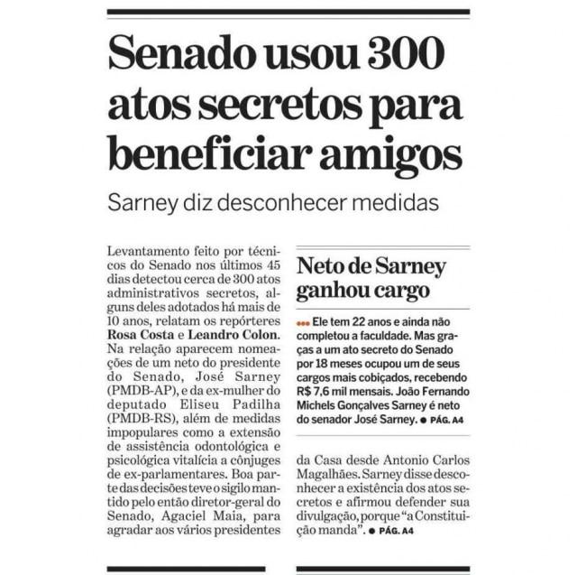 > Estadão 10/6/2009