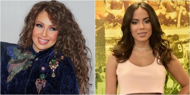 Internautas sugerem uma parceria entre Thalía e Anitta.
