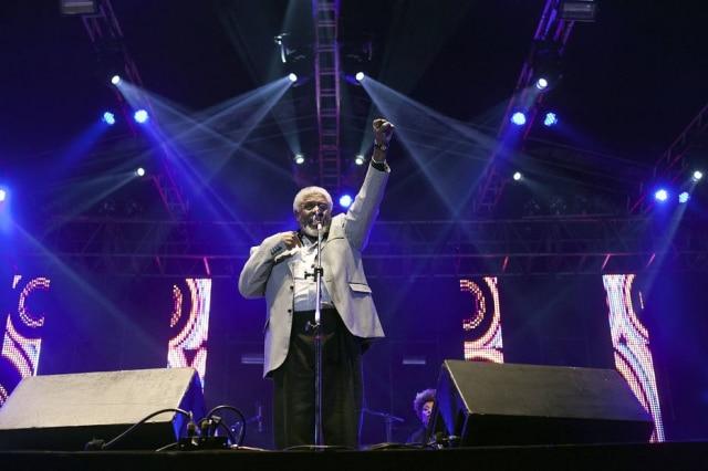 Tony Tornado em show no Festival 'Black na Cena', em 2011.