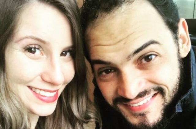 Comediante Matheus Ceará e a mulher, Bianca Campos