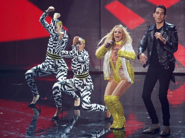 Britney Spears durante sua performance no Video Music Awards 2016