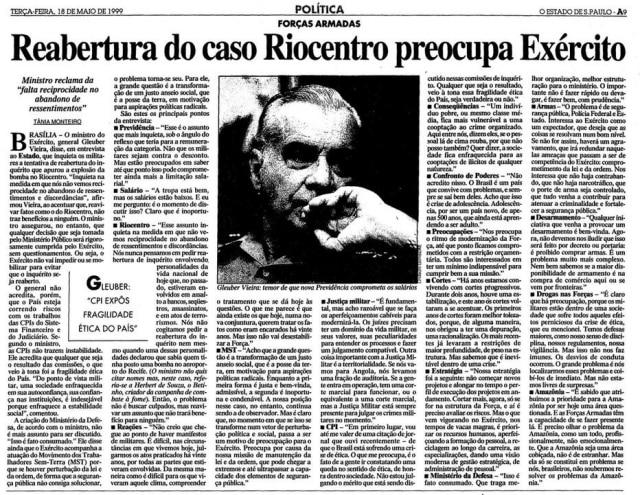 > Estadão - 18/5/1999