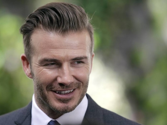 O atleta David Beckham.