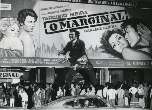 Estreia do filme 'O Selvagem' em SãoPaulo, estrelado por Tarcísio Meira, em marçode 1975