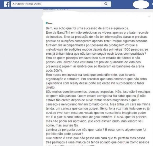 As denúncias estão tomando os comentários do Facebook e do Instagram da atração.