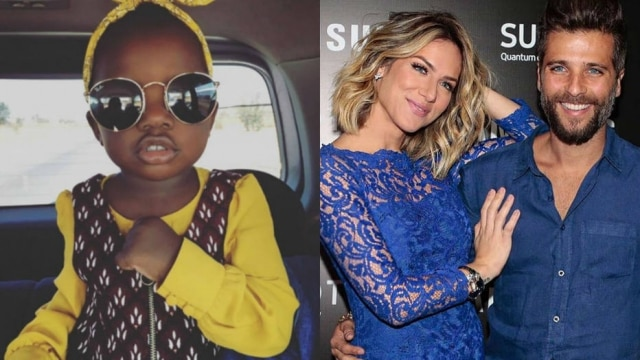 O casal de atores adotou Titi na África; o processo de adoção durou cerca de três meses