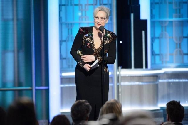 Meryl Streep fez icônico discurso no Globo de Ouro.