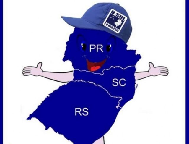 Sulito, o mascote do 'Sul é meu país'.