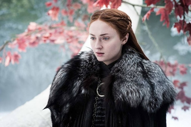 Sophie Turner diz ter ficado feliz com o desfecho de Sansa na última temporada de 'Game of Thrones', que estreia em 2019.