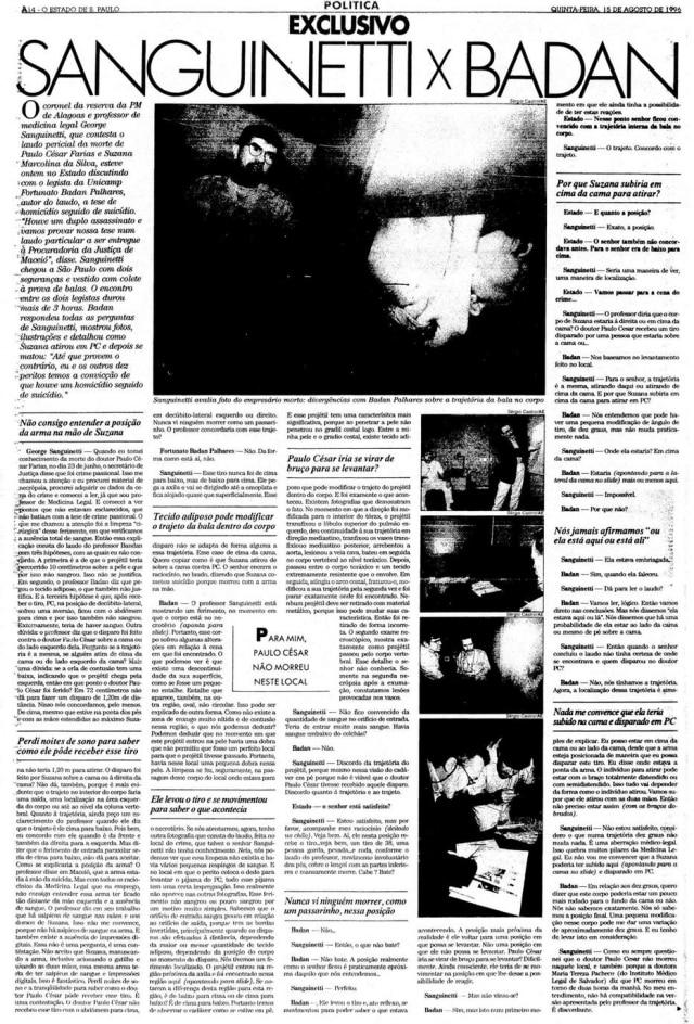 >> Estadão - 15/8/1996