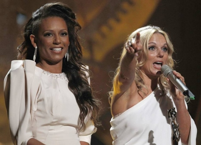 As Spice Girls Mel B e Geri Halliwell.